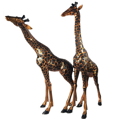 Giraffe Pair Bronze Outdoor Large Statues
