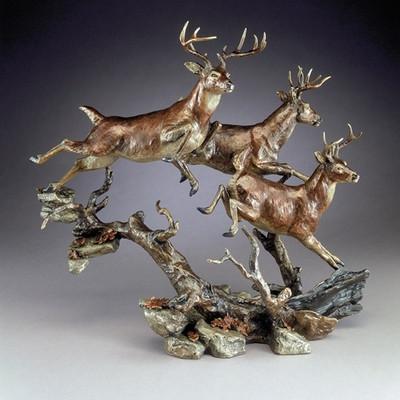 """Bronze Deer Sculpture """"Elusive"""""""
