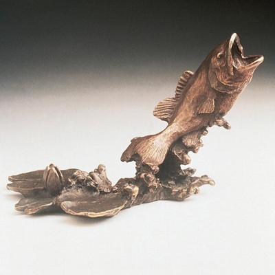 Bass Bronze Sculpture
