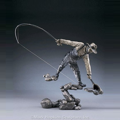 "Fisherman Bronze Sculpture ""The Moment"""