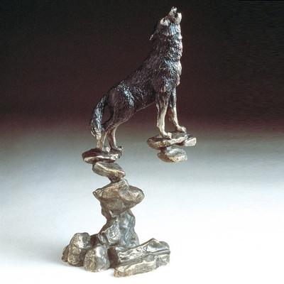 Wolf Bronze Sculpture