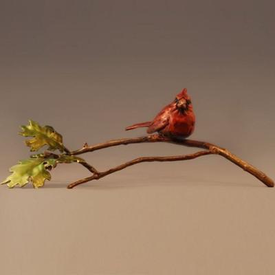 """Bronze Cardinal Sculpture """"Midsummer"""""""