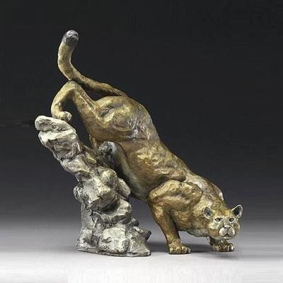 Puma Bronze Sculpture