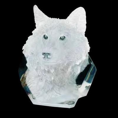 """Wolf Sculpture """"Devotion"""""""