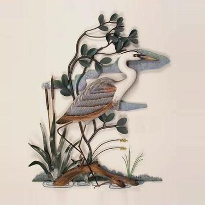 Heron in Mangrove Wall Sculpture