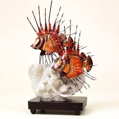 Lion Fish Copper Sculpture