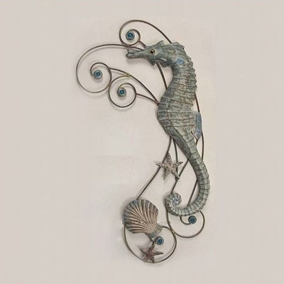 Seahorse Wave Wall Sculpture Facing Left