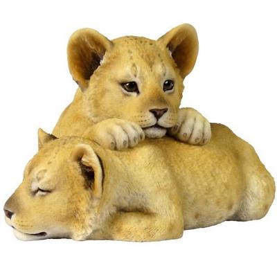 Lion Cubs Sculpture