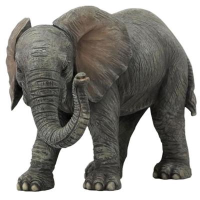 Gray Elephant Baby Sculpture