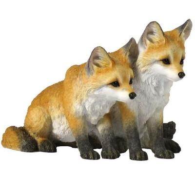 Fox Pups Sculpture