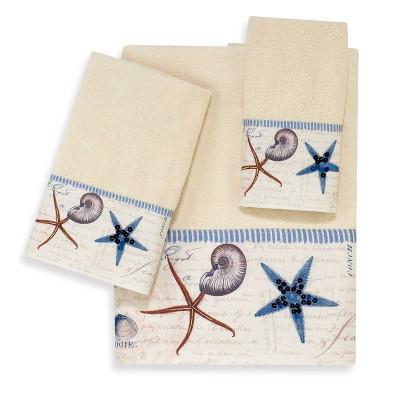 Starfish Shell Antiqua Bath Towel Set