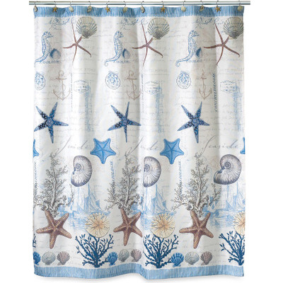 Starfish Shell Shower Curtain Antiqua