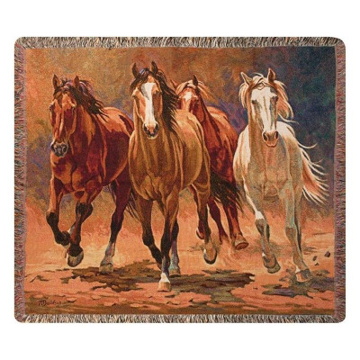 Horse Tapestry Throw Blanket