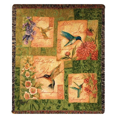 Hummingbird Tapestry Throw Blanket