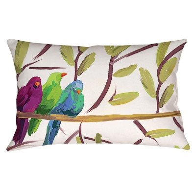 Song Birds Indoor Outdoor Throw Pillow