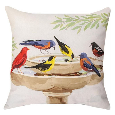 Bird Bath Indoor/Outdoor Pillow