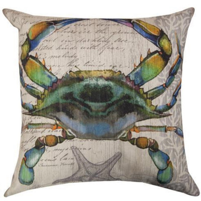 Blue Crab Indoor/Outdoor Throw Pillow