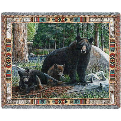 New Discoveries Bear Tapestry Throw Blanket