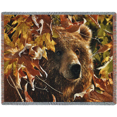 Bear Legend of the Fall Tapestry Throw Blanket