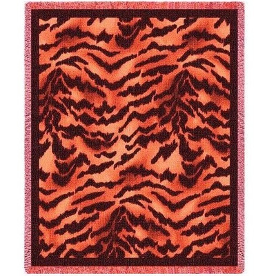 Tiger Print Throw Blanket
