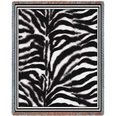 Zebra Print Tapestry Throw Blanket