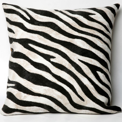 Zebra Print Indoor Outdoor Throw Pillow