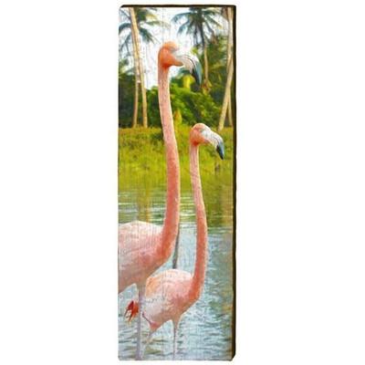 Flamingo Wood Panel Wall Art