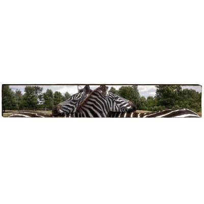 Zebra Wood Panel Wall Art