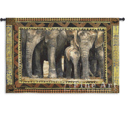 Among Family Elephant Wall Hanging