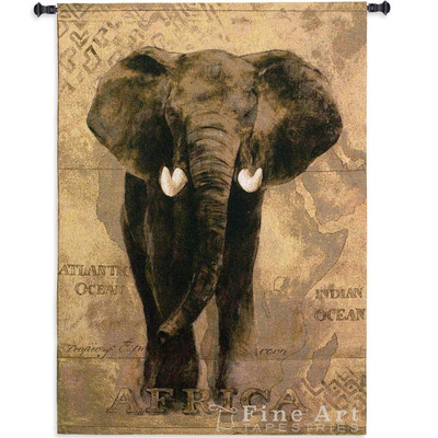 African Voyage I Elephant Wall Hanging