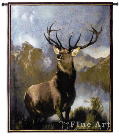 Monarch of the Glen Elk Tapestry Wall Hanging
