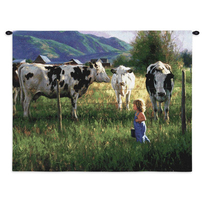 Anniken and the Cows Tapestry Wall Hanging