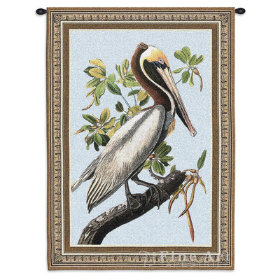 Brown Pelican Tapestry Wall Hanging