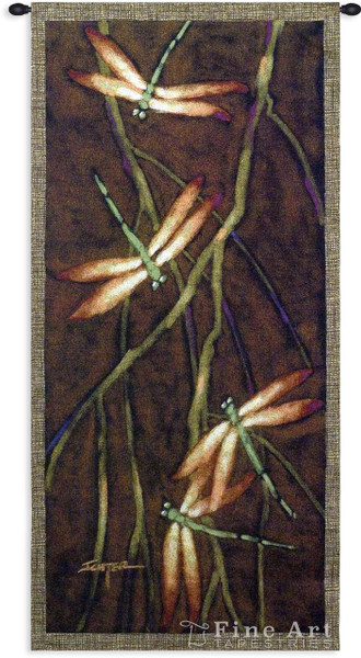 October Song 2 Dragonfly Tapestry Wall Hanging