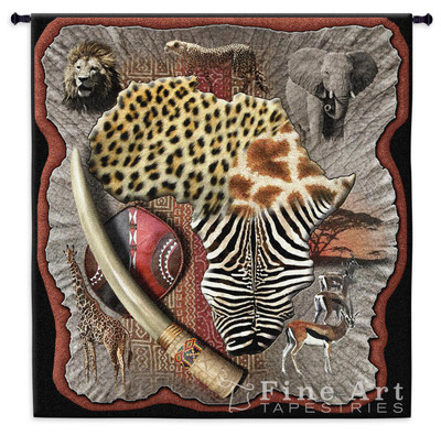 Leopard and Zebra Africa Tapestry Wall Hanging