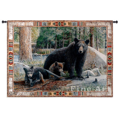 Black Bear New Discoveries Tapestry Wall Hanging