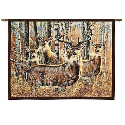Deer Tapestry Wall Hanging Sudden Encounter