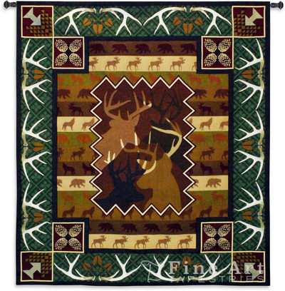 Antlers Deer Tapestry Wall Hanging
