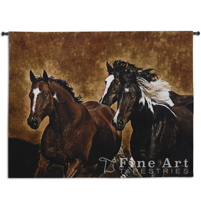 Ready to Run Horse Tapestry Wall Hanging