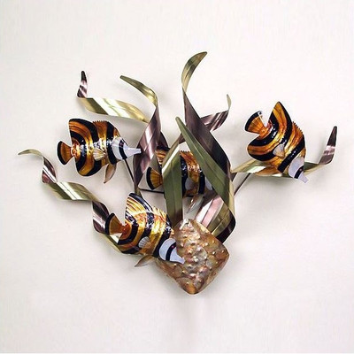 Angelfish Mardi Gras Wall Sculpture