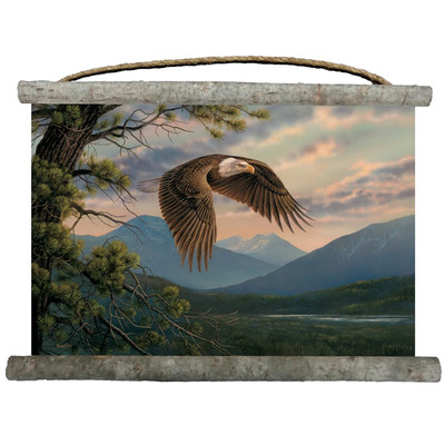 "Eagle Canvas Wall Hanging ""Majestic Moment"""