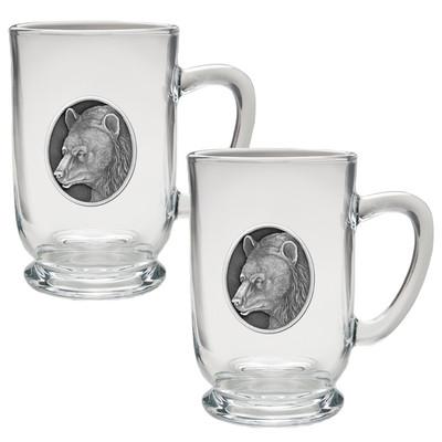 Black Bear Coffee Mug Set of 2