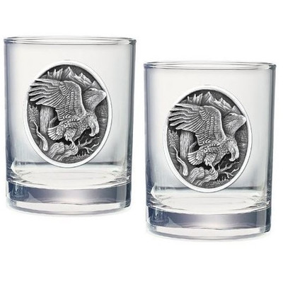 Eagle Double Old Fashioned Glass Set of 2