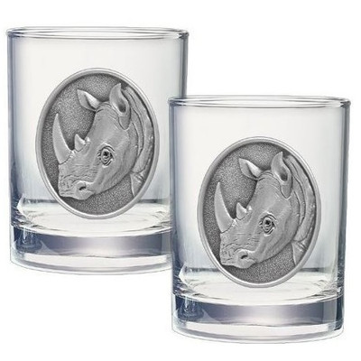 Rhino Double Old Fashioned Glass Set of 2