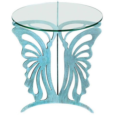 Butterfly Glass Top Table