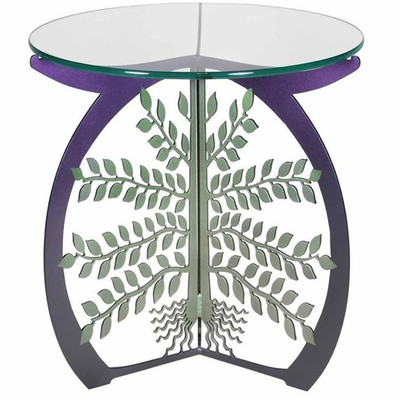 Tree of Life Glass Top Table