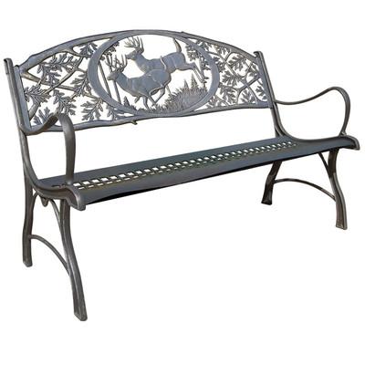 Deer Cast Iron Garden Bench