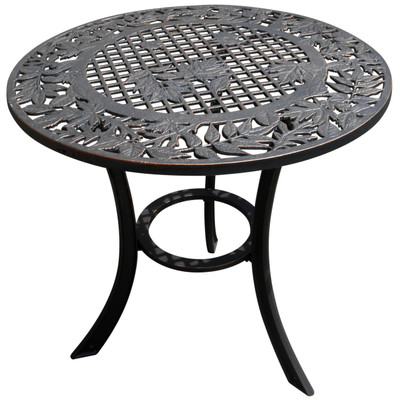 Leaf Design Iron Patio Table
