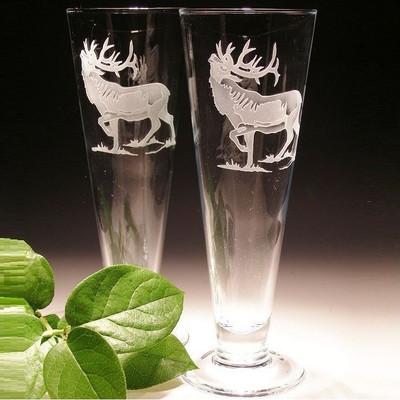 Elk Crystal Pilsner Glass Set of 2