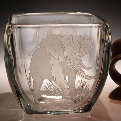 Elephant Crystal Votive Candle Holder